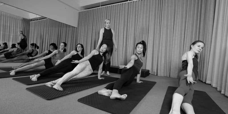 Pilates Side Bend. Mat Class